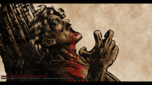 Father dead closeup Concept Art by Michael Adamidis