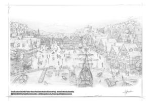 Old houses RC Village2 Pencil Concept by Michael Adamidis