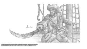 Pencil Artwork Pirates2 v3 by Michael Adamidis