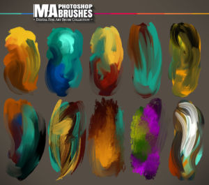 Digital Art Photoshop Brushes for Concept Painting with Oil Texture Procreate
