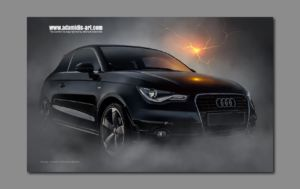 Matte Painting Audi by Michael Adamidis