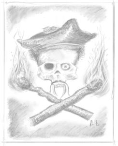 Pencil Artwork Pirates v7i by Michael Adamidis