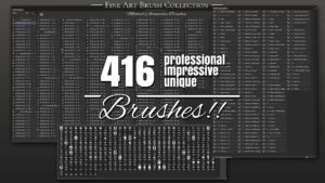 Photoshop Bristle Brush Fine Art Collection MABrushes 3 (1) Pinsel